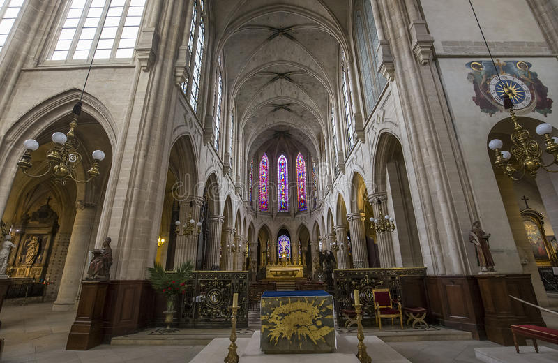 Chiesa di St Germain Auxerrois, Parigi, Francia immagini stock libere da diritti