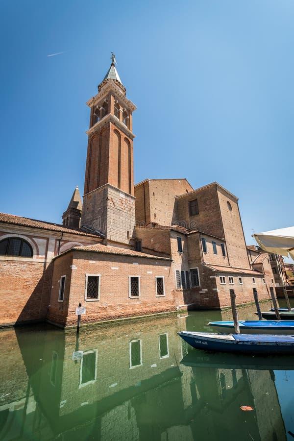 Chiesa di St James in Chioggia, Italia fotografie stock