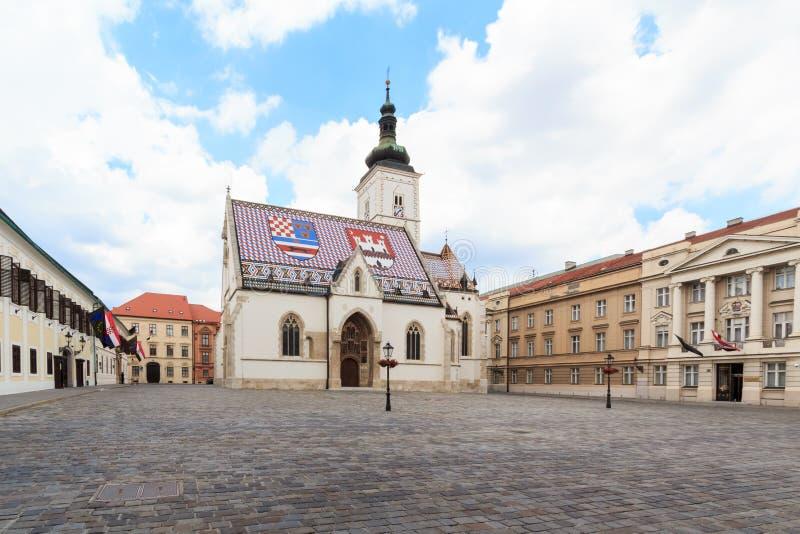 Chiesa di St Mark a Zagabria fotografia stock libera da diritti