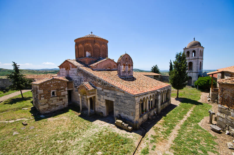 Chiesa di St Mary in Apollonia, Albania fotografia stock