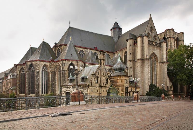 Chiesa di St Michael a Gand flanders belgium fotografia stock