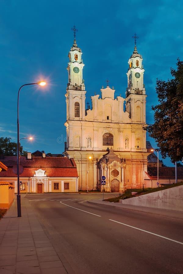 Chiesa di St Paul e di St Peter a Vilnius, Lituania immagine stock libera da diritti