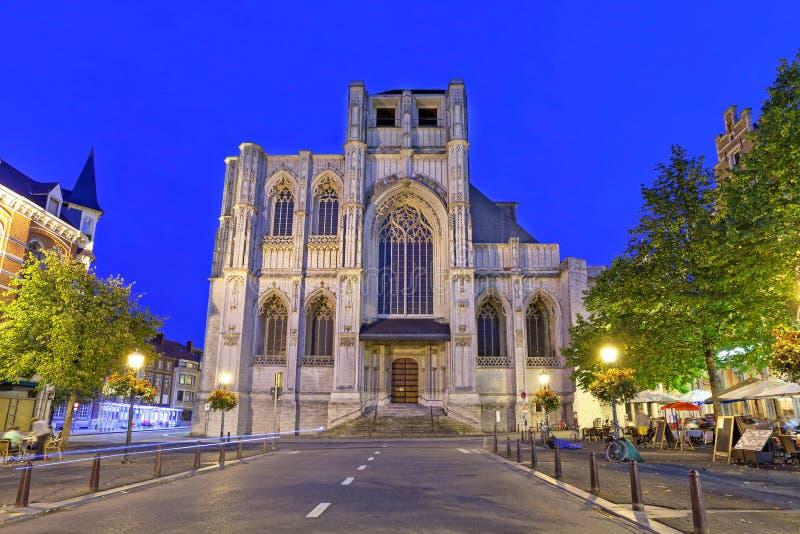 Chiesa di St Peter a Lovanio immagine stock