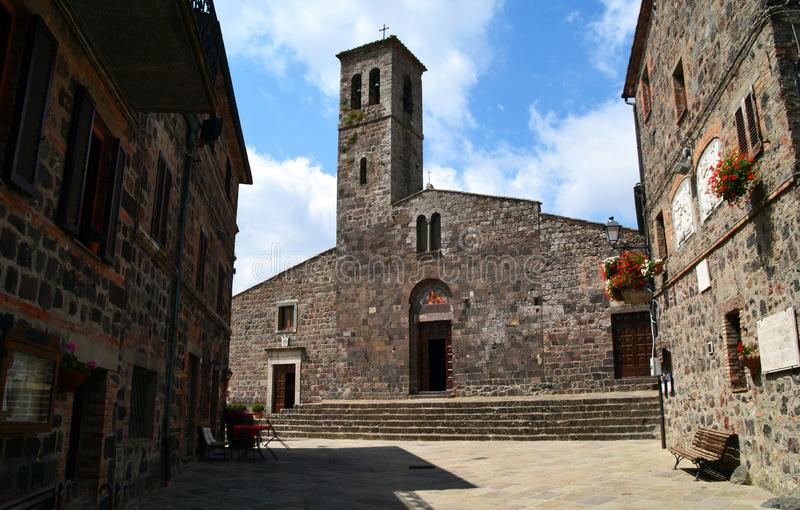 Chiesa di St Peter, Pieve di S pietro Radicofani, Toscana, Italia immagine stock