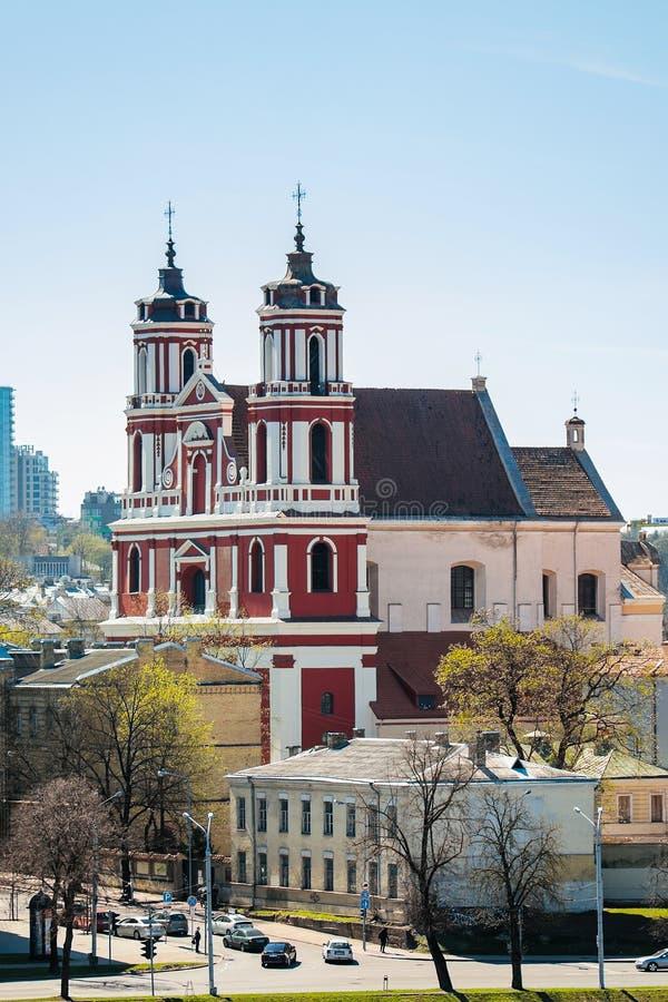 Chiesa di St Philip e della st Jacob a Vilnius fotografie stock libere da diritti