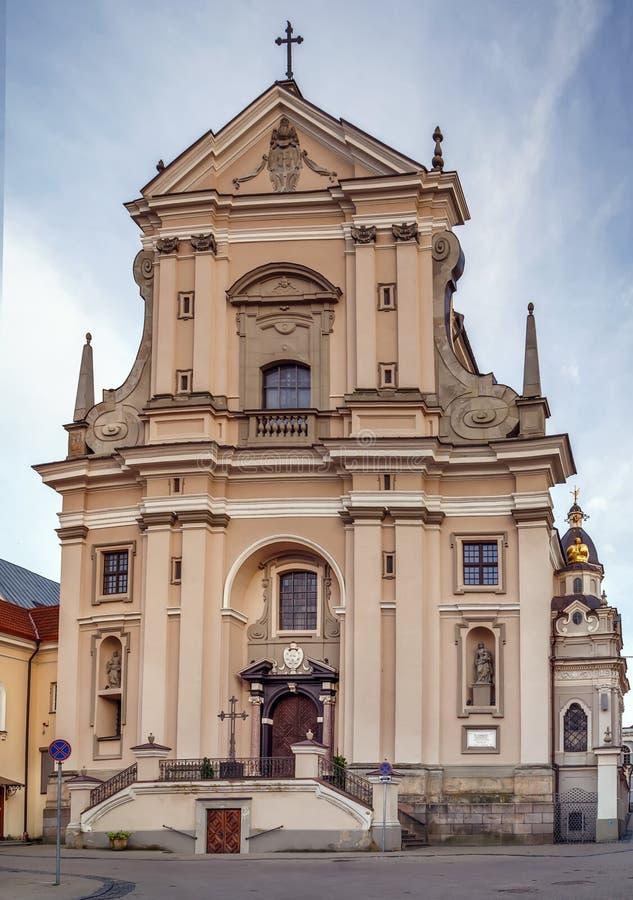 Chiesa di St Teresa, Vilnius, Lituania fotografia stock libera da diritti