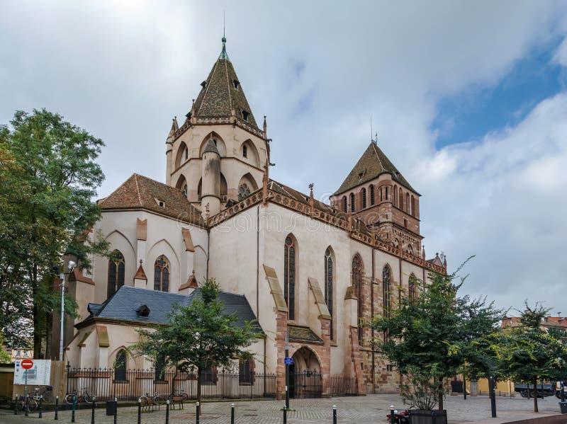 Chiesa di St Thomas, Strasburgo immagini stock libere da diritti
