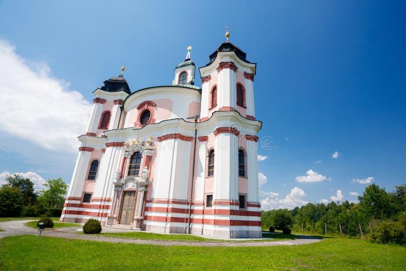 Chiesa di Stadl Paura in Lambach fotografia stock