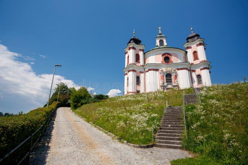 Chiesa di Stadl Paura Lambach, Austria fotografia stock libera da diritti