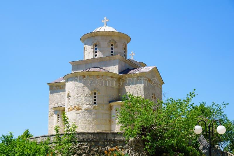 Chiesa di Stanko del san, nel monastero di Ostrog immagine stock libera da diritti