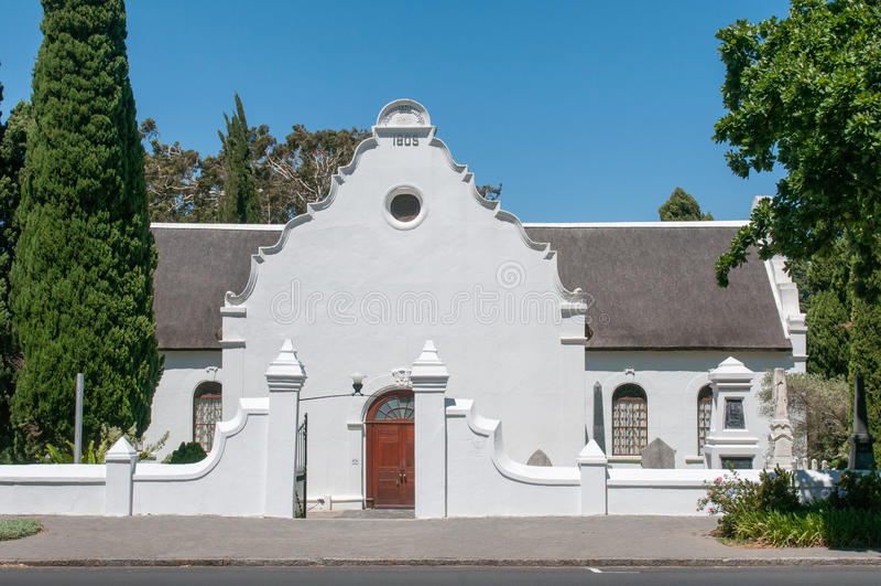 Chiesa di Strooidak (tetto a lamella) in Paarl immagini stock