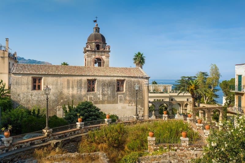 Chiesa di Taormina fotografia stock