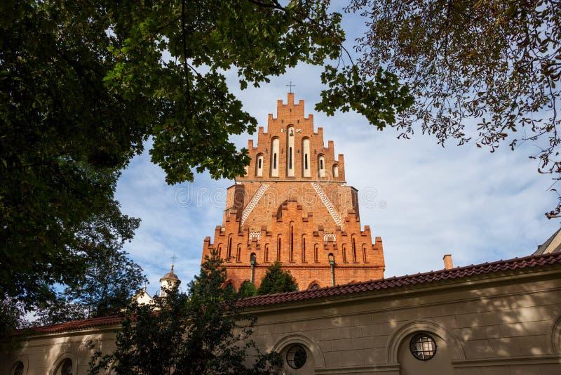Chiesa di trinità santa e monastero domenicano a Cracovia immagini stock