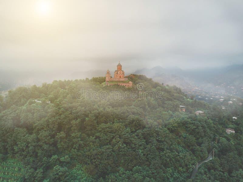 Chiesa di trinità santa di Sameba immagine stock