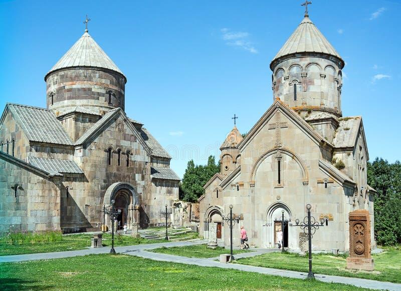 Chiesa di Tsaghkadzor Armenia Kecharis fotografia stock