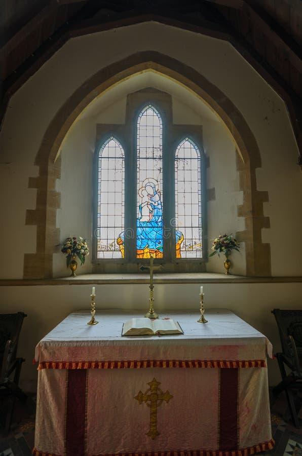 Chiesa di Tyneham fotografia stock libera da diritti