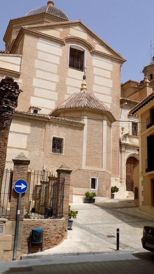 Chiesa di Velez Blanco-ALMERIA-SPAGNA immagine stock libera da diritti