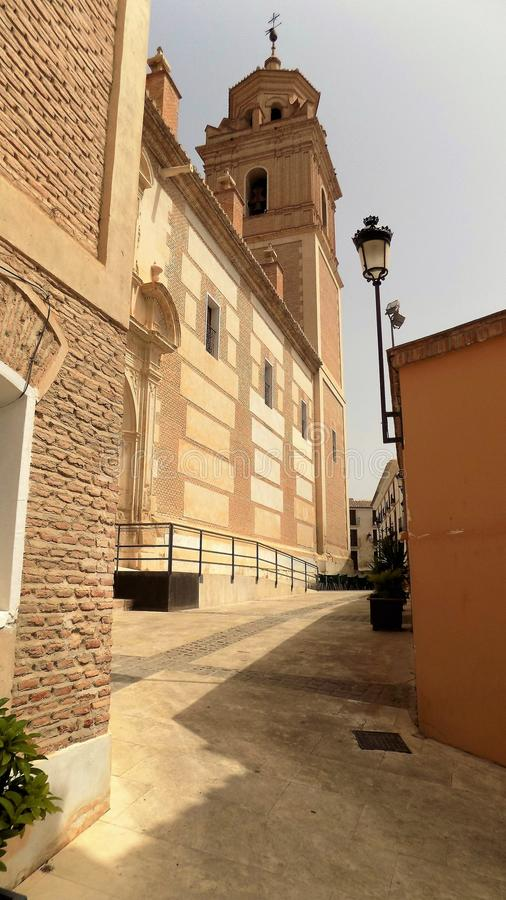 Chiesa di Velez RubioAlmeria-Spagna immagini stock libere da diritti