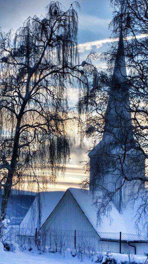 Chiesa di Venabygd immagini stock libere da diritti