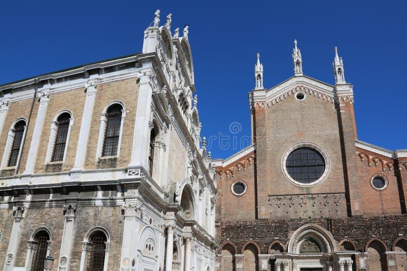 Chiesa di Venezia di St John e di St Paul immagini stock libere da diritti