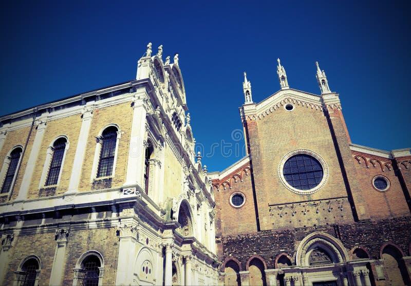 Chiesa di Venezia di St John e di St Paul fotografia stock