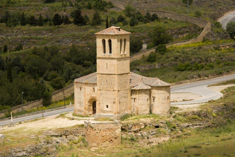 Chiesa di Vera Cruz a Segovia, Spagna immagini stock libere da diritti