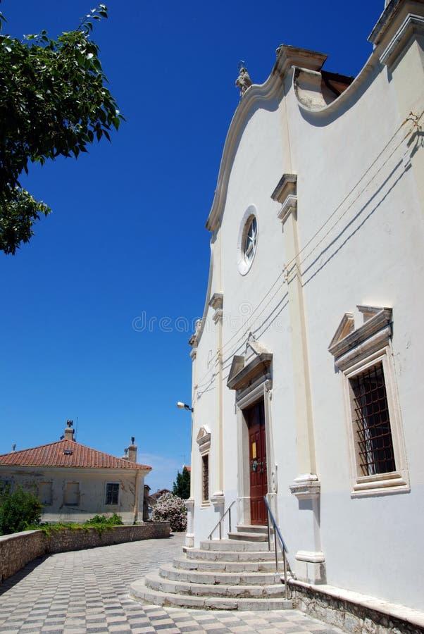 Chiesa di vergine Maria benedetto in Mali Losinj, Croazia immagine stock