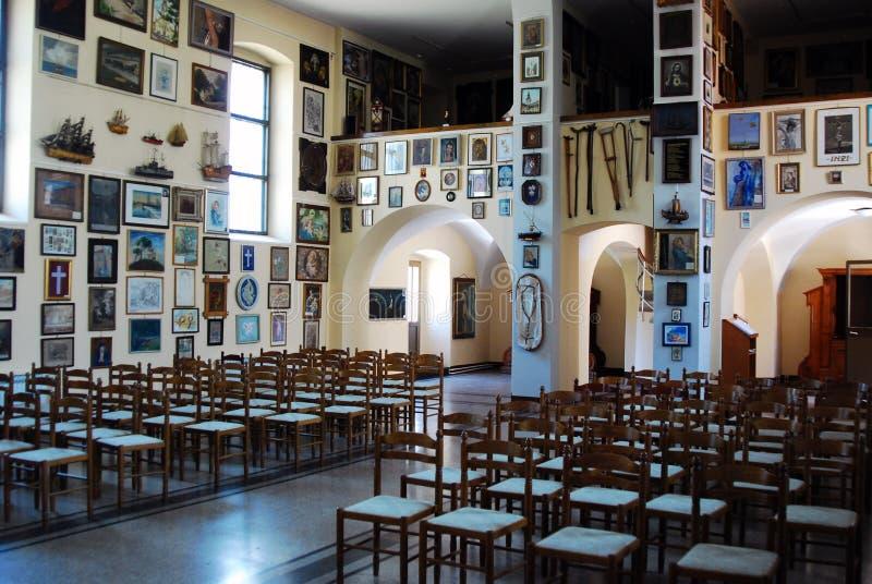 Chiesa di vergine Maria benedetto su Trsat a Rijeka immagini stock