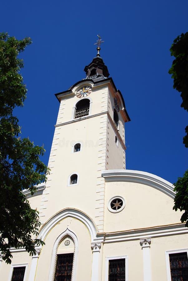 Chiesa di vergine Maria benedetto su Trsat a Rijeka, Croazia immagini stock