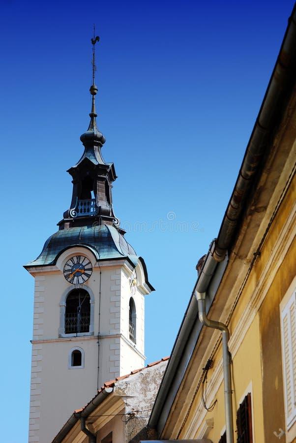 Chiesa di vergine Maria benedetto su Trsat a Rijeka, Croazia fotografie stock