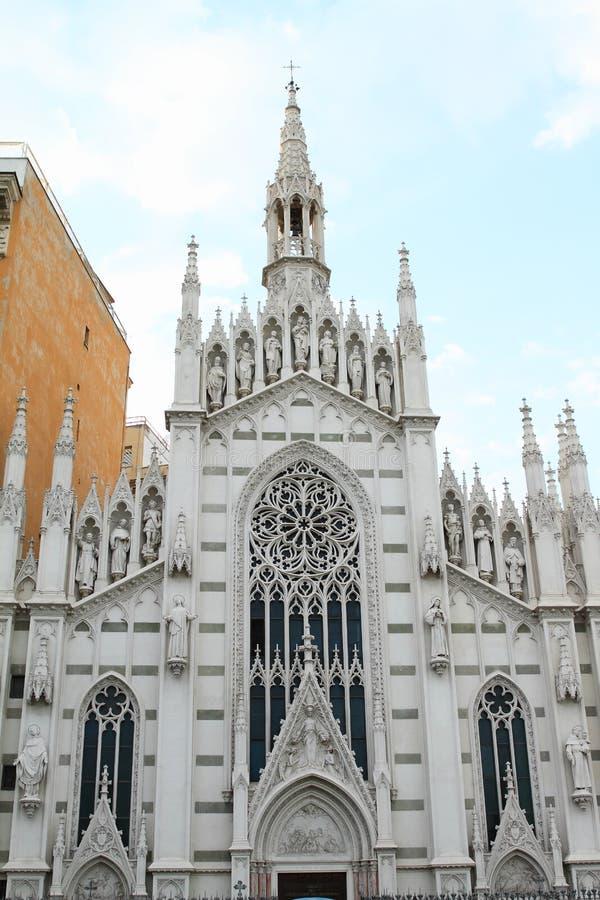 Chiesa di vergine Maria sul fondamento del tempio di Minerva fotografie stock