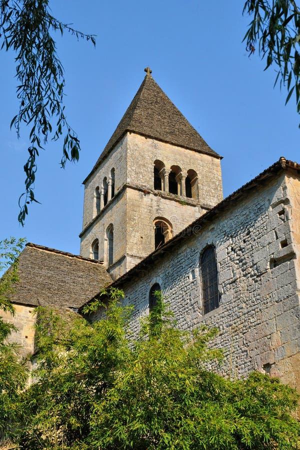 Chiesa di Vezere del sur della Francia, Leon del san in Perigord immagini stock libere da diritti
