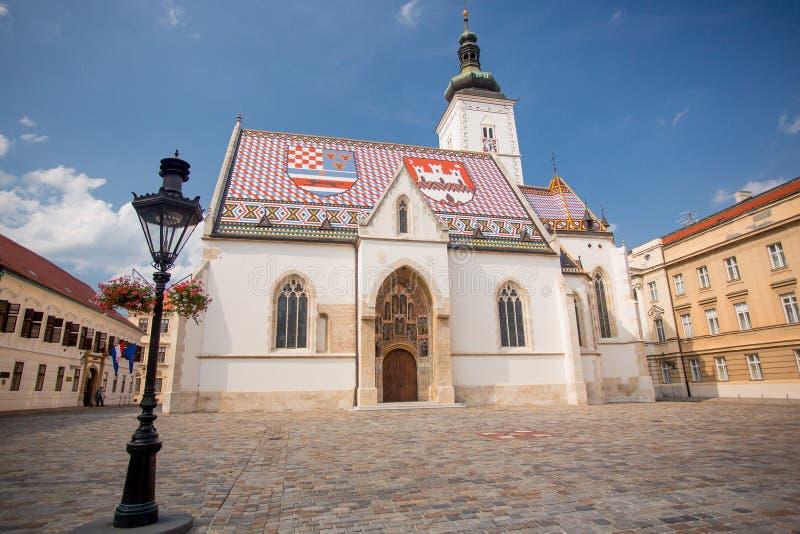 Chiesa di Zagabria di St Mark immagini stock libere da diritti