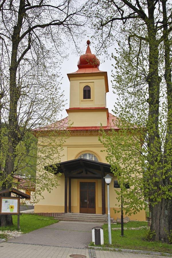 Chiesa in Donovaly fotografia stock
