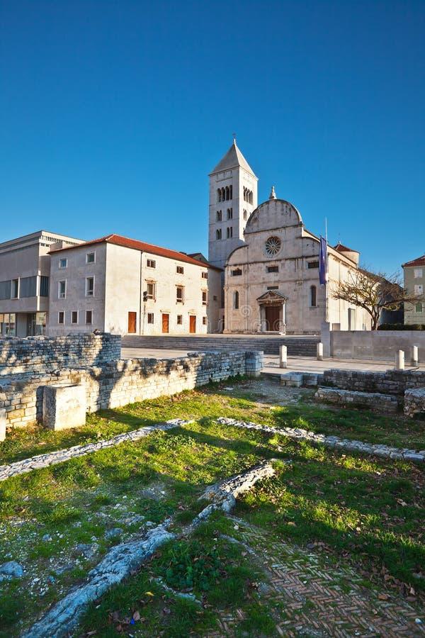 Chiesa e monastero di St Mary in Zadar fotografia stock libera da diritti