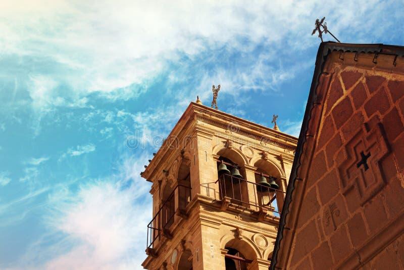 Chiesa e monastero in san Catherine Egypt, Sinai fotografie stock