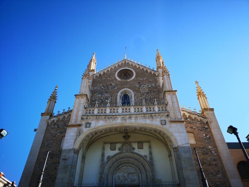 Chiesa e vecchio monastero del EL di nimo del ³ di San Jerà reale, a Madrid, la Spagna fotografia stock libera da diritti