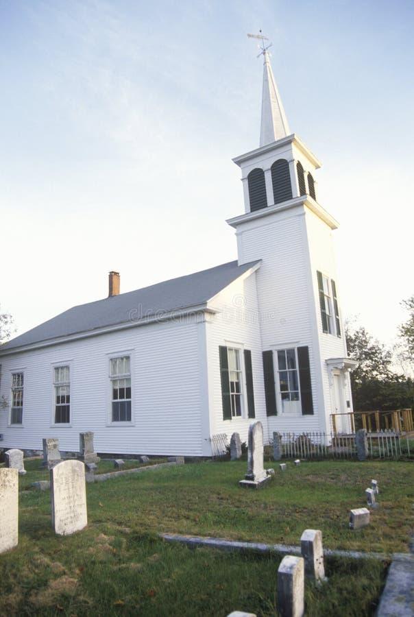 Chiesa in Effingham New Hampshire immagini stock libere da diritti
