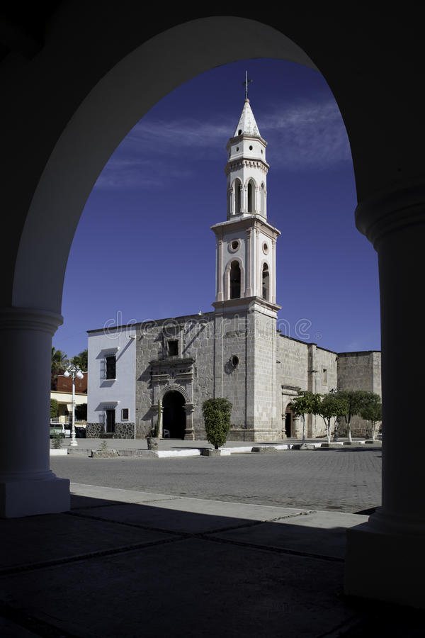 Chiesa, EL Fuerte, Sinaloa, Messico immagini stock