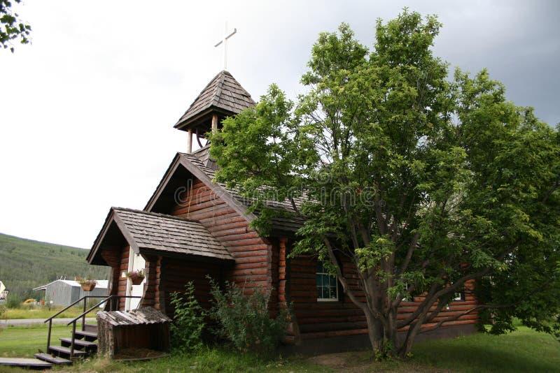 Chiesa episcopale, Nenana, Alaska fotografie stock libere da diritti