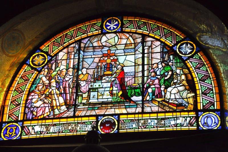 Chiesa espiatoria di BARCELLONA 25 luglio del cuore sacro di Gesù (Expiatori del Sagrat Cor) il 25 luglio 2009. immagine stock libera da diritti