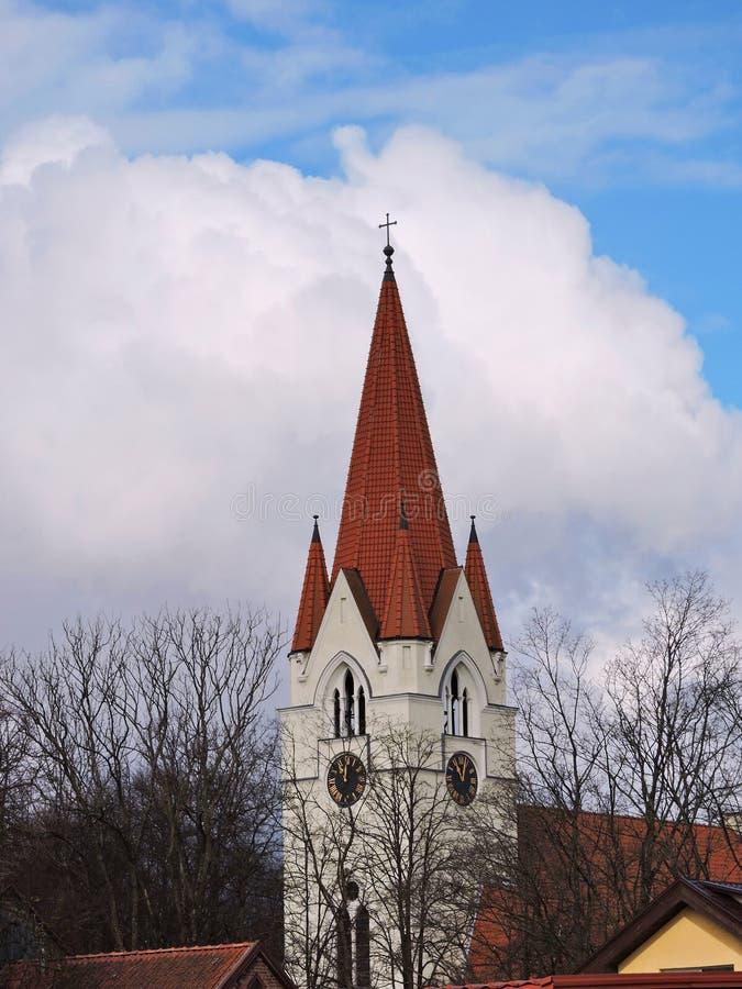 Chiesa evangelica, Lituania fotografie stock