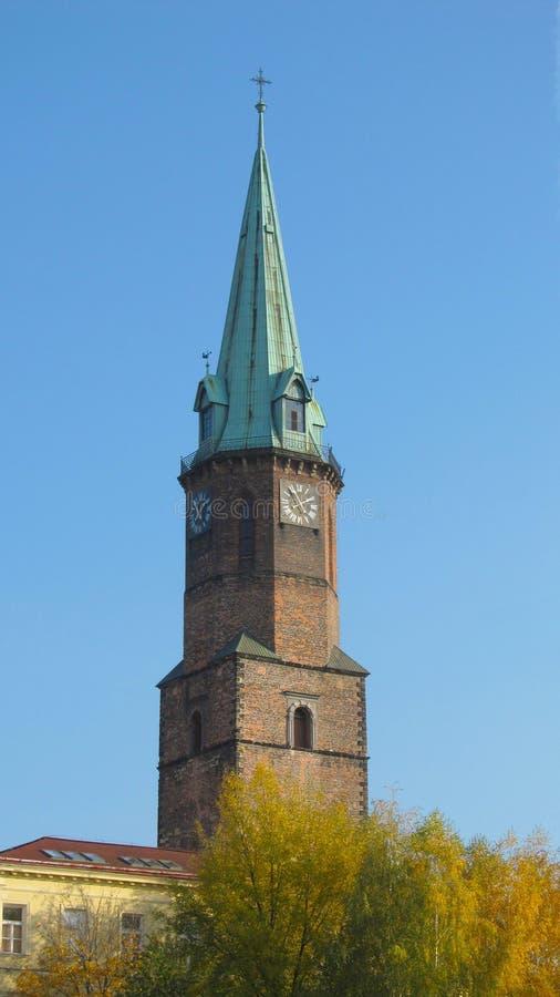 Chiesa evangelistica in Frydek-Mistek fotografia stock