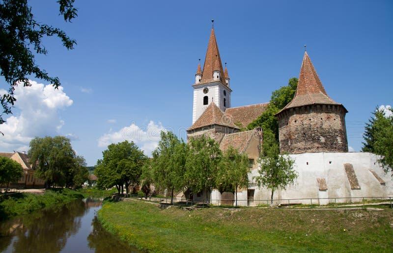 Chiesa fortificata immagine stock