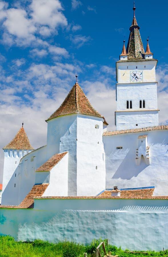 Chiesa fortificata di Harman, Brasov in Romania immagine stock