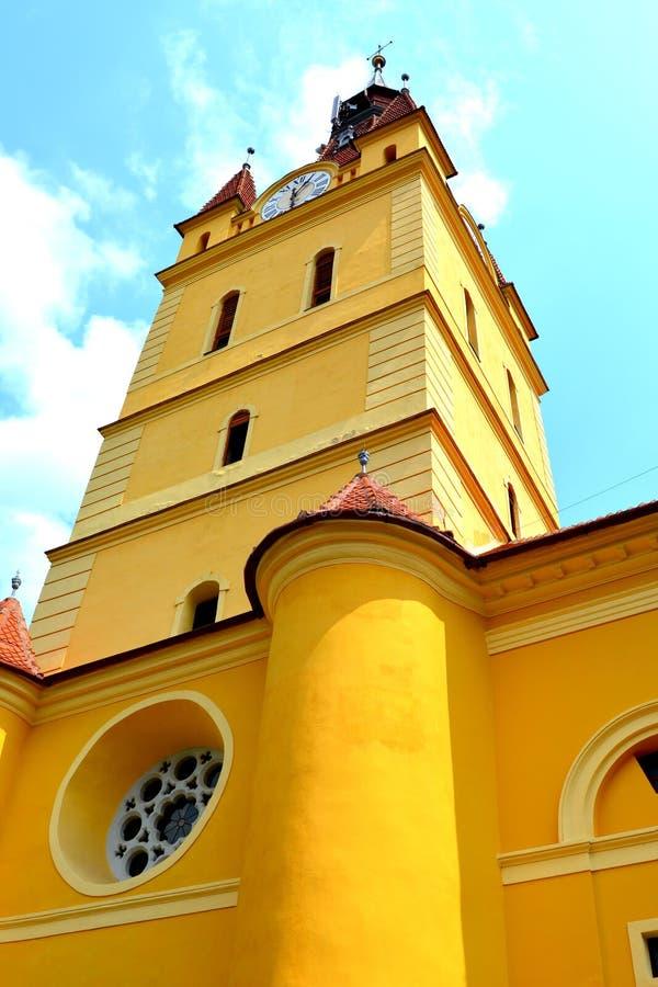 Chiesa fortificata medievale in Cristian, la Transilvania immagine stock