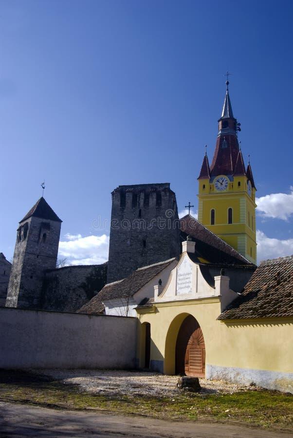 Chiesa fortificata in Romania immagine stock