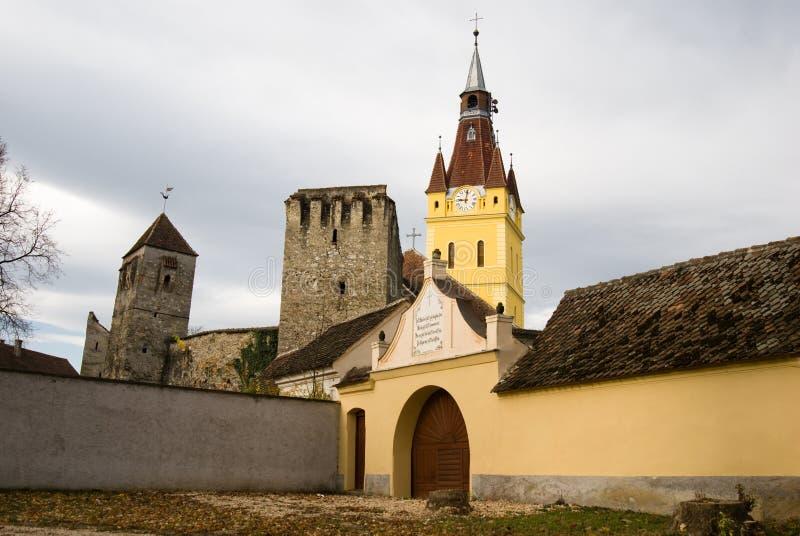 Chiesa fortificata in Transylvania immagini stock libere da diritti
