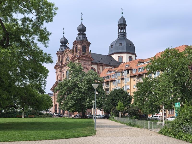 Chiesa gesuita a Mannheim, Germania fotografia stock libera da diritti