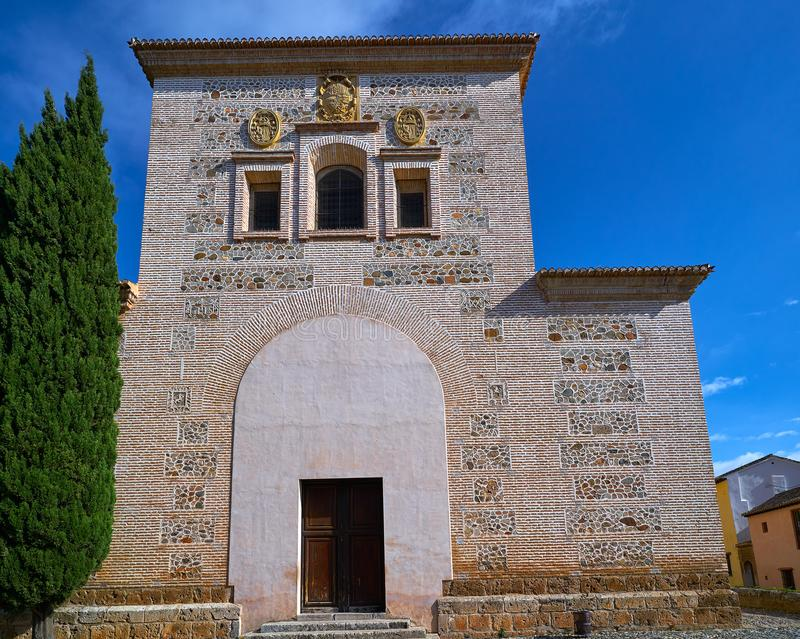 Chiesa Granada di Santa Maria de Alhambra fotografie stock libere da diritti